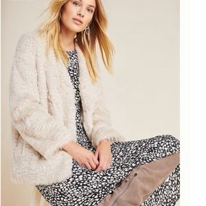 Anthro Noemi Faux Fur Coat NWT XL